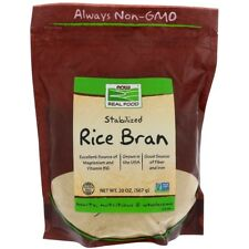 Stabilized Rice Bran, 20 oz (567 g) Real Food, Now Foods