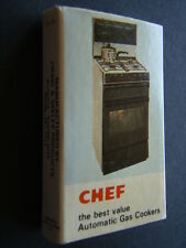 CHEF AUSTRALIA'S BIGGEST RANGE OF AUTOMATIC GAS COOKERS BEST VALUE - MATCHBOX