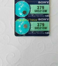 2 Piles SONY 379 - SR521SW - 1.55V Neuf