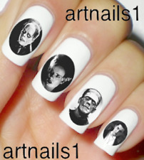 Horror Hollywood Monster Nail Halloween Classic Art Water Decal Stickers Polish