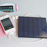 3.5W 6V Solar Panel Power Bank Battery USB Charger For Cellphone Tablet PAD FW