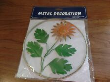 Hampton Direct Metal Deocration-Orange Flower #2529