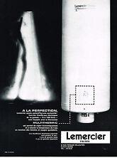 PUBLICITE ADVERTISING  1964   LEMERCIER   multithermic chauffe-eau