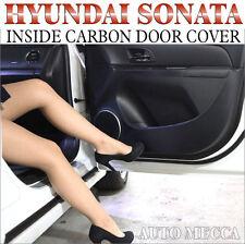 INSIDE CARBON DOOR COVER KICK PAD 4P 1SET FOR 2011-2014 SONATA (IX45)