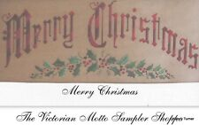 Merry Christmas, Antique Sampler style ***counted cross stitch chart****