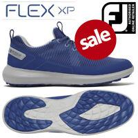 FootJoy Flex XP Men's Golf Shoes Spikeless Blue - NEW! 2020 **REDUCED**