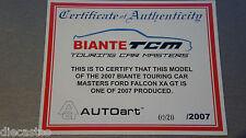 1:18 Autoart FORD FALCON XA GT TCM 2007  CERT ONLY