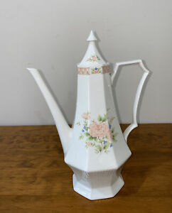 Vintage NIKKO Classic Collection Cameo Rose Teapot/ Coffee Pot With Lid  33.5cm