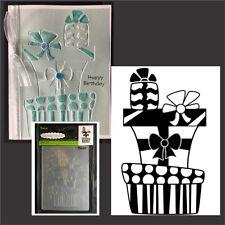 Darice embossing folders PRESENTS STACKED folder 1219-200 Christmas,birthday
