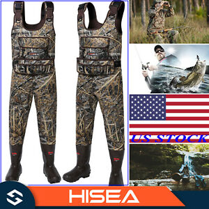 HISEA Hunting Waders 1600G Insulated Neoprene Rubber Bootfoot Camo Chest Waders