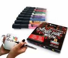 Permanent ceramic markers. Best marker pens for glass porcelain wood metal. 8 pc