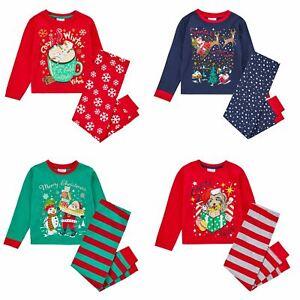 Kids Christmas Pyjamas Childrens Cotton Xmas Pyjama Set PJs Age 2-6 Years