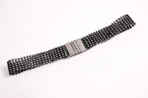 Gorgeous Elegant Ladies Black elastic Belt w Small Crystal Diamonds (S396)