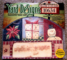 "Christmas Holiday Collage Yard Design Magnetic Yard Art 14"" x 10"" Made in USA"