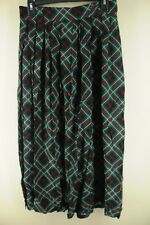 Briggs New York Women's Green Navy & Red Geometric Rayon Skirt Size 14