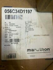 Marathon Electric Motor 056c34d1197 34hp 3450rpm 1 Phase Ac Motor New