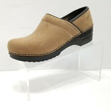 Italian Shoemakers Made Italy Clocs Leather 8M Taupe Clogs