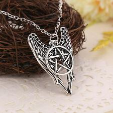 Collar de alas de ángel Castiel y estrella pentagrama pentalfa del Supernatural