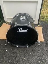 """More details for free p&p. 22"""" pearl bass drum. black  finish. 22x18"""" bd109080"""