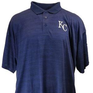 Kansas City Royals Navy Blue Men's Majestic MLB Coolbase Polo Big & Tall