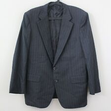 HICKEY FREEMAN Canterbury Pinstripe 2 Button Suit Blazer Mens 43 R H193