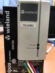 Wieland Wipos Power Supply Module 81.000.6030.0 24V DC 5A 115/230VAC