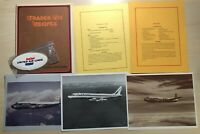 Lot of United Airlines Trader Vic Recipes Airplane Photos Luggage Label