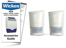 Wickes Alarms Wirefree PIR Detector 710743 / SAP E 433MHz TWIN PACK  (INC GUIDE)