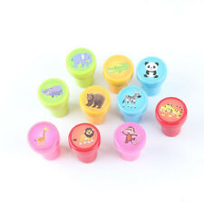 10PCS/set Self-ink Rubber Stamps Children Party Event Supplies Best Gift Toy