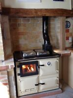 Flameview-  a woodburner c/heating  Rayburn type range cooker with a glass door