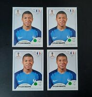 4x 🔥 KYLIAN MBAPPE ROOKIE 🔥 #197 RC LOT WORLD CUP 2018 RARE PINK VERS. INVEST
