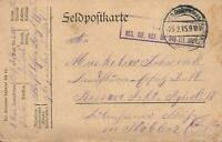 1915 WWI GERMAN ARMY 52 Res. Inf. Div POSTCARD FELDPOST EXPRESS PMK