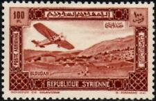 More details for syria 1934  airmail  100p. brown   sg.299 mint (hinged)  scott # c66