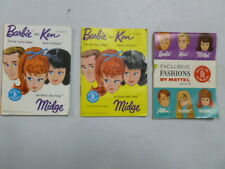 Lot of 3 1960's Barbie Booklets