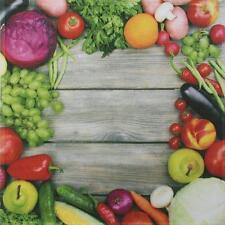 "framsohn Geschirrtuch Vollflächendruck ""Gemüse"" 50 x 50 cm - 27864"
