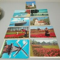 Lot of (9) 1970s Michigan Postcards Lighthouse Ludington Ferry Ship Skiing NEW