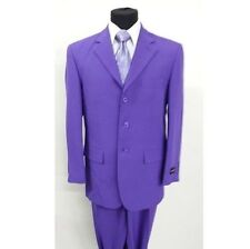 Men's 2pc Basic Work Suit Three Button Jacket With Pants 802P