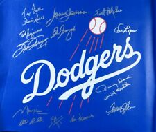 Dodgers Multi Signed Autographed 18X21.5 Unstretched Canvas Garvey Newcombe