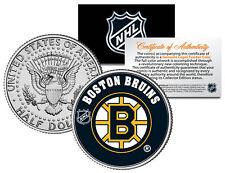 BOSTON BRUINS NHL Hockey JFK Kennedy Half Dollar U.S. Coin * LICENSED *