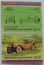 1917 LOCOMOBILE 48 SPORT Car Stamps (Leaders of the World / Auto 100)