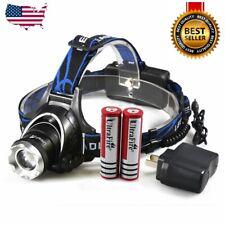 900000Lumen T6 LED Zoomable Headlamp USB Rechargeable 18650 Headlight Head Light