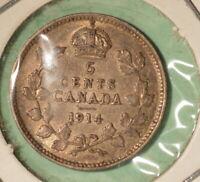 1914 Canada Silver 5 Cents - INV#S-262