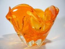 Orange Retro Art Glass