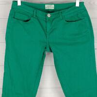 Aeropostale Ashley Women's Size 7/8 Stretch Green Ultra Skinny & Low Rise Jeans