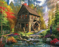 Paint by Numbers DIY Kit Set Nature Canvas Craft Decor Kids Art Landscape Adult