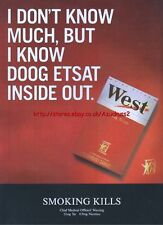 "West Cigarette ""i Dont Know Much"" 1999 Magazine Advert #3642"
