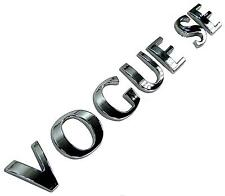 "Chrome ""VOGUE SE"" letters for Range Rover L322 supercharged rear tailgate badge"