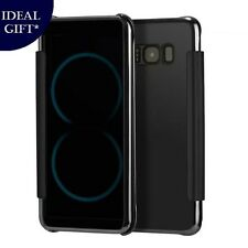 Luxury Black Mirror Flip Leather Case Cover For Samsung Galaxy S8 PLUS SM-G955