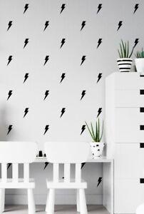 Lightning Wall Stickers Circle Children's Bedroom Decal Nursery Wall Art Sticker