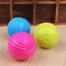 Pet Dog Training Chew Play Fetch Bite Toys Indestructible Solid Rubber Ball Call